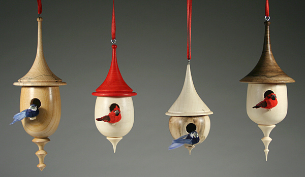Birdhouse Christmas Ornaments Pics Southeast Michigan Woodworkers