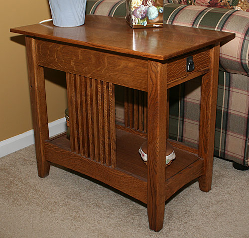 Pair of mission end tables in walnut build woodworking for Side table plans