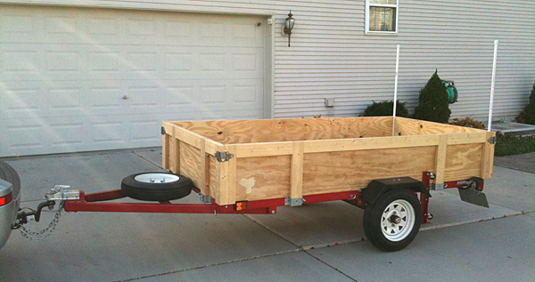 Harbor Freight Trailer Mod http://www.pic2fly.com/Harbor+Freight+Foldable+Trailer.html