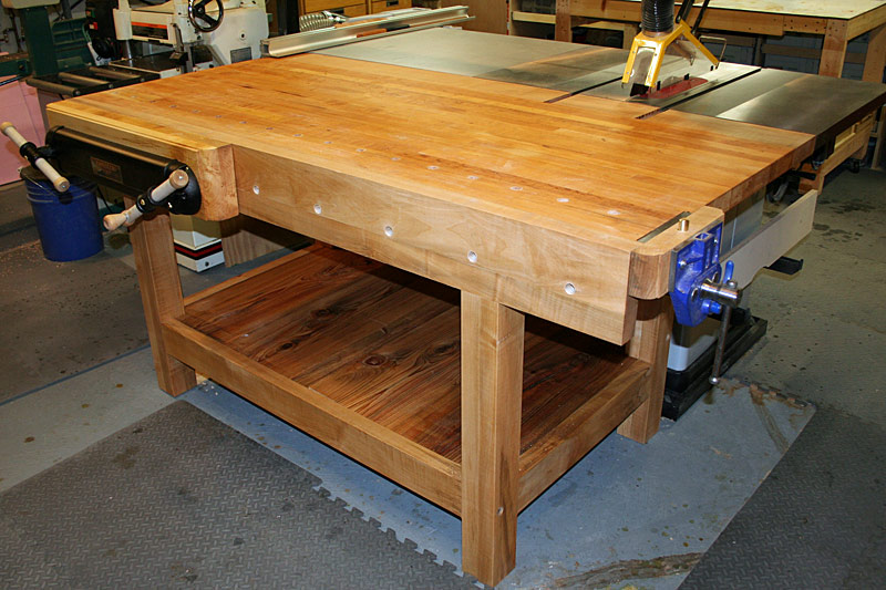 garage workshop gift ideas - Workbench doubles as table saw out feed table why don t